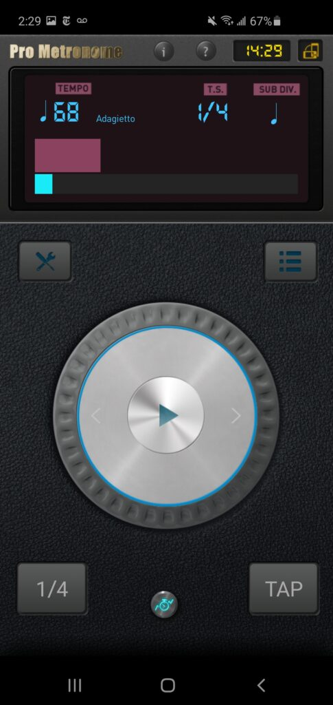 This is the metronome app I use these days but all work fine.
